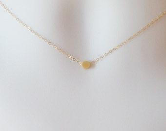 Gold Dot Necklace, Tiny Gold Dot Necklace, Gold Circle Necklace, Gold Filled Necklace, bridesmaid gifts, weddings, bridal, Christmas Gifts