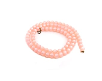 Pink Moonglow Lucite Necklace / b3
