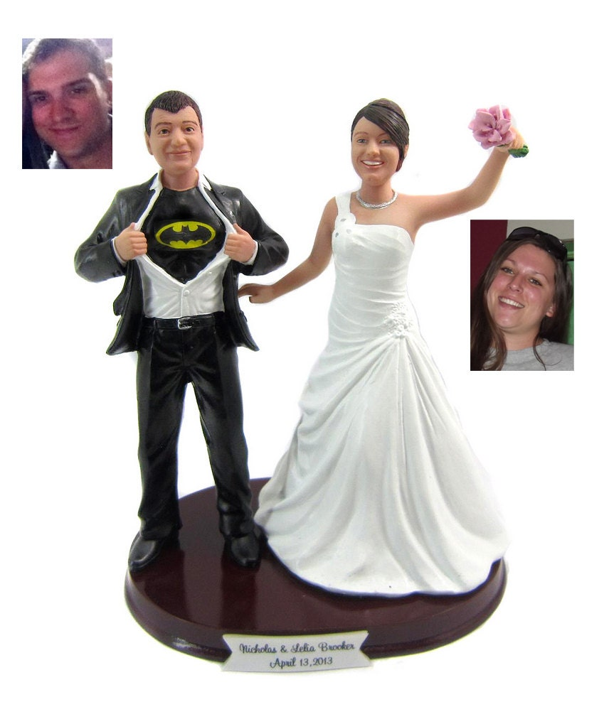 batman wedding cake topper batman groom with your choice of wedding cake by 1524