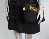 Moschino Cheap and chic black lace dress vintage black little dress