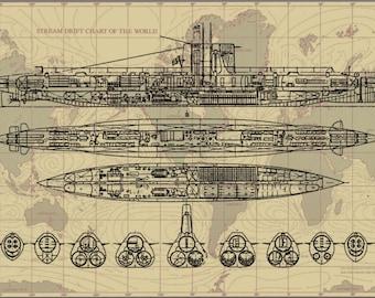 Royal Netherlands Navy Dutch Submarine Poster Print
