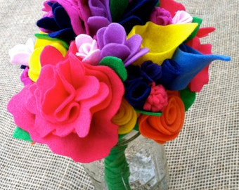 Vibrant Felt Bouquet