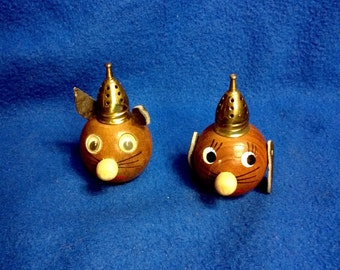 Wooden Salt and Pepper Shakers
