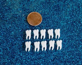 10x laser cut acrylic molar wisdom tooth cabochons