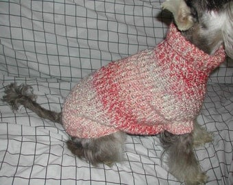 Custom Knitted Dog Sweater (15-25 lbs.) - Handmade, over 60 Colors Available - Solids & Stripes