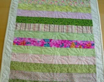 Nursery play mat, changing mat, baby quilt.