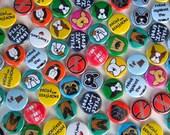 "Dog magnet set of 8 - 1"" round magnets - YOU CHOOSE mix & match  - Smooshface United breed bias love"
