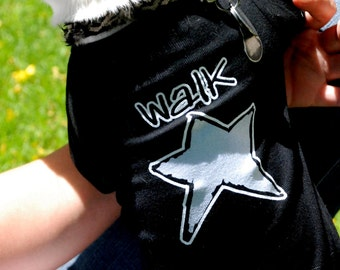 WALKSTAR- dog tee in black
