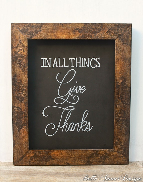 "Items similar to Fall Decor Chalkboard Sign - ""In All ..."