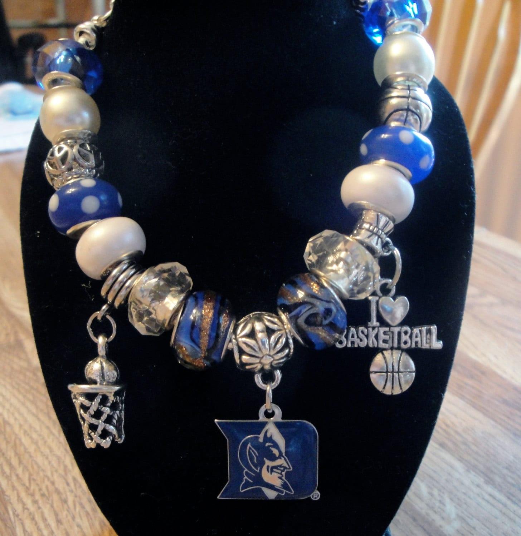 Basketball Charm Bracelet: Duke Blue Devils European Charm Bracelet NCAA Basketball
