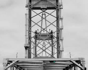 New Memorial Bridge in Portsmouth, New Hampshire - Fine Art Photo Print Multiple Sizes