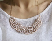 White Pearl Statement Necklace