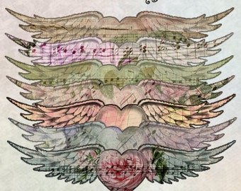 Heart Wings - Digital Scrapbooking and Crafting Clipart Graphics