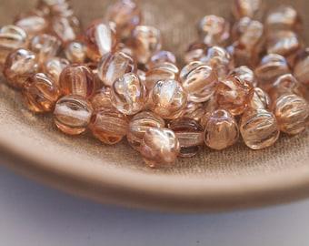 50 Celsian 5mm Melon Czech Glass Beads (S604)