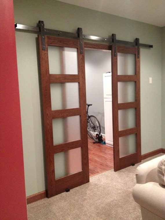 Double door sliding barn door hardware by nwartisanhardware for Double sliding doors