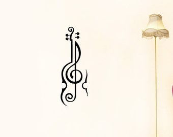 Popular items for violin music on etsy for Violin decorating ideas