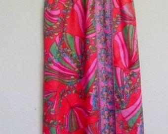 Mad Men Dress Mod Dress Boho Dress Garden Party Dress Sleeveless Dress Psychedelic