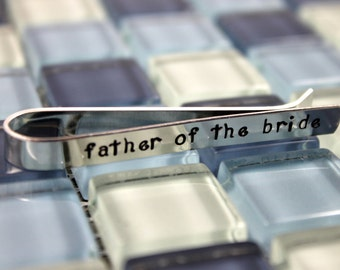 Father of the Bride Tie Clip / Father of the Bride Tie Bar / Personalized Tie Clip / Personalized Tie Bar / Father Wedding Gift