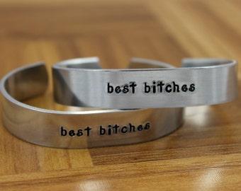 Best Bitches bracelet set / Best Friend Gift / Gift for Best Friend / BFF Gift / Gift for BFF / Best Friends Bracelet / Friend Gift Bracelet