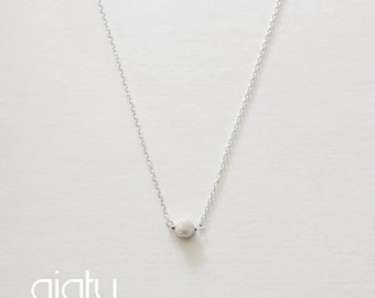 Small Dot Necklace - Small Necklace, Everyday Necklace, Simple Necklace, Bff Necklace, Charm Necklace
