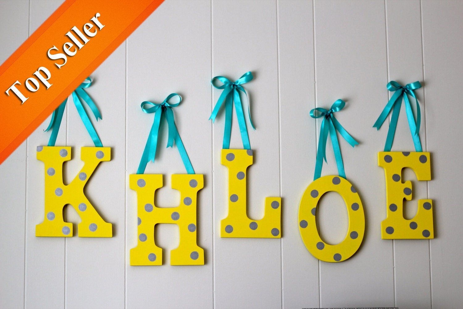 Nursery Letters Hand Painted Wooden By AnnAllisonPaperGoods