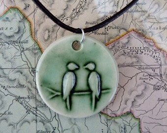 Lovebirds Pendant (Green)