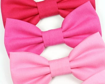 Pink Dog Bow Tie Cat Bowtie Wedding Formal Removable Breast Cancer Awareness Valentine's