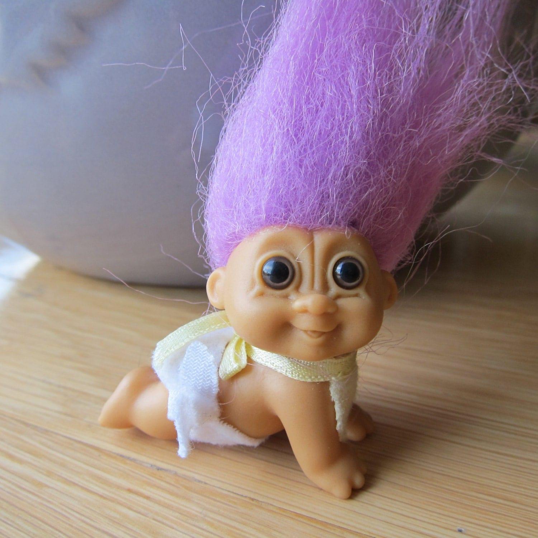 Vintage 90s Russ Troll Doll Baby Troll