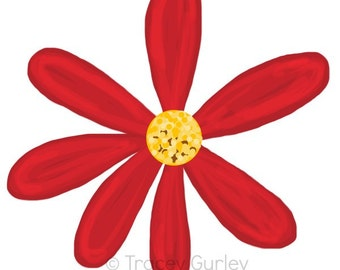 Red Daisy Clipart Red daisy art downloadRed Daisy Clipart