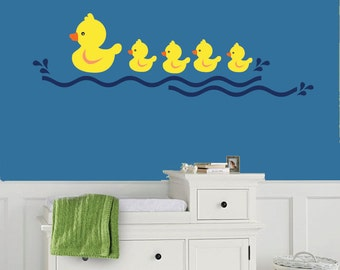 Ducks Wall Decal - REUSABLE WALL Decal