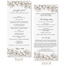 instant download wedding program template vintage. Black Bedroom Furniture Sets. Home Design Ideas