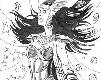 Original Drawing of Alan Moore's Promethea!