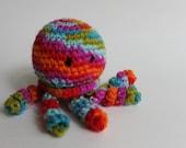 "4"" Stuffed Jellyfish, Crocheted Stuffed Jelly fish, Amigurumi Jellyfish, Rainbow Jellyfish, Child safe Crocheted Jellyfish Crochet Jellyfish"