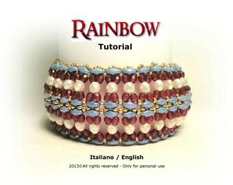 Tutorial Rainbow Bracelet - beading pattern