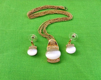 Vintage RMN Necklace and Earring Set (Item 379)