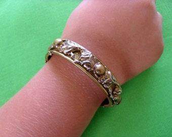Vintage Brass-tone Bracelet (Item 395)