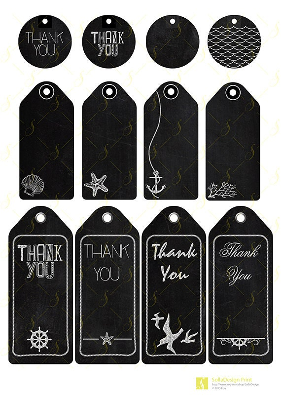 Items similar to Chalk Tags Gift Template, Tags 12 element, chalk desk ...