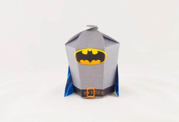 Batman favor gift box Instant download Printable Party