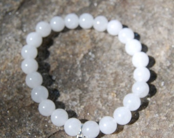 Natural Snow Quartz Healing Gemstone Bracelet