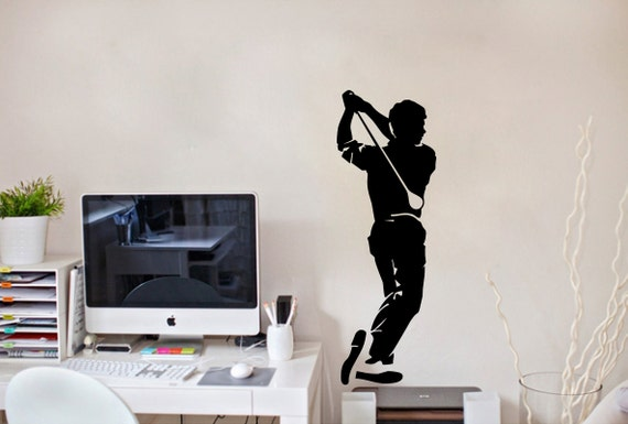 Items Similar To Wall Decals Sport Sportsmen Plays Golf Home Wall Vinyl Decal