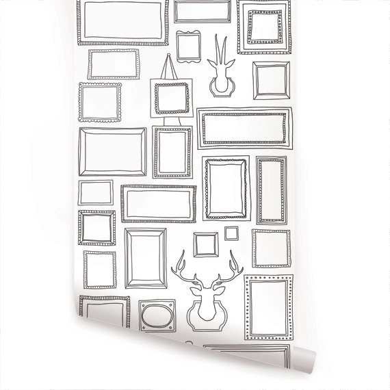 Frames Peel Amp Stick Fabric Wallpaper Repositionable