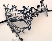 Vintage Phantom Mask - Venetian Masquerade Mask with Classic Diamonds - Masquerade Ball, Halloween Costume, Vintage Dress Mask