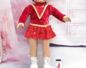 Ice Skating Costume fits American Girl Doll and 18 inch dolls