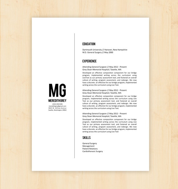 4 Minimalist Resumes  Resume Word Document Template