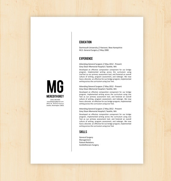 Resume Layout Template