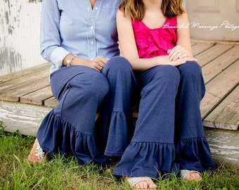 Women's and Children's Ruffle Pants  Buy One and get the child's Ruffle pants 1/2 OFF