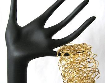 Gold Wire Wrap Medium Bracelet
