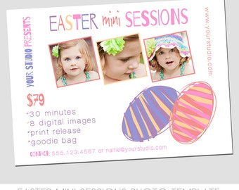 Easter Mini Session Photography Template - Marketing Template - Abstract Easter Eggs - Fun Design