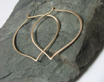 14K Gold Large Hoop Earrings, Ready to Ship