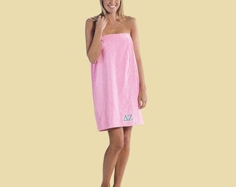 Personalized Women's Absorbent Terry Velour spa towel wrap. Great for the beach, pool, after bath or shower